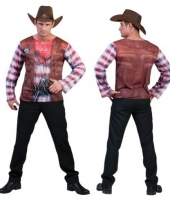 Western t-shirt voor heren