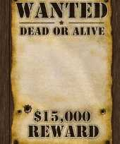 Western thema most wanted poster