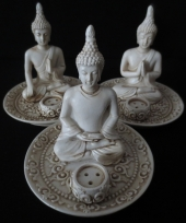 Wierookhouder set tibetaanse boeddhas 3 stuks