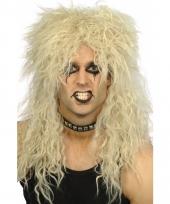 Wilde heren rockers pruik blond