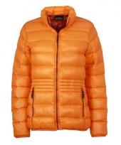 Wind en waterafstotende oranje damesjas