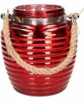 Windlichtje rood 16 cm