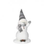 Winterdecoratie sneeuwpop 44 cm