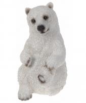 Winterlandschap decoratie beeldje ijsbeer