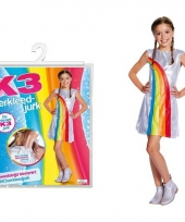 Wit k3 jurkje met regenboog