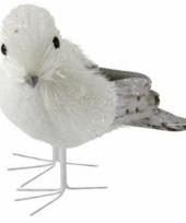 Wit met grijze vogel 12 cm type 2