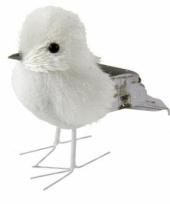 Wit met grijze vogel 12 cm type 3