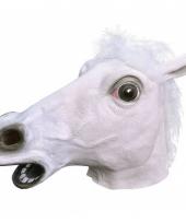 Wit paarden masker van rubber
