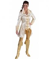 Wit piraten dames jasje grote maat
