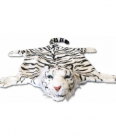 Wit tijgervel kleed 74 x 90 cm