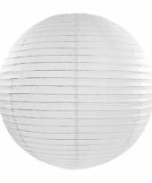 Witte bol lampion 35 cm