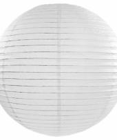 Witte bol lampion 50 cm