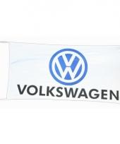 Witte garage vlag volkswagen