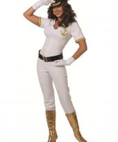 Witte kapiteins kostuum voor dames