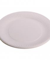 Witte kartonnen borden 10 stuks