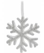 Witte kerstdecoratie hanger sneeuwvlok