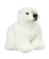 Witte knuffel ijsbeer 18 cm