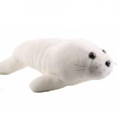 Witte knuffel zeehond 30 cm