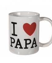 Witte koffie mok i love papa