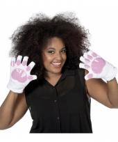 Witte konijnen handschoenen voor volwassenen