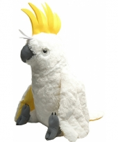 Witte papegaai knuffeldieren 76 cm