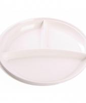 Witte plastic borden 10 stuks