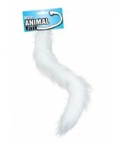 Witte staart pluizig 50 cm