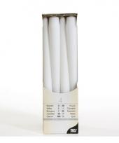 Witte versiering kaarsen 25 cm