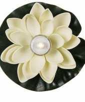 Witte waterlelie decoratie 13 cm