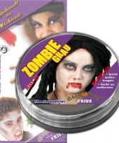 Witte zombie schmink