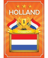 Wk holland thema deurposter