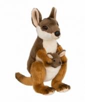 Wnf knuffels kangoeroe met baby 19 cm