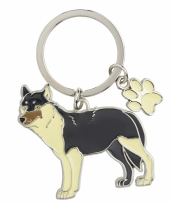 Wolf sleutel hangertje 5 cm
