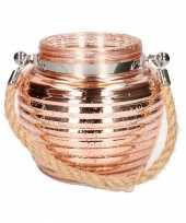 Woondeco lantaarns koper glitter 13 cm
