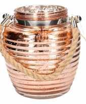 Woondeco lantaarns koper glitter 16 cm