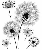 Woondeco sticker zwart wit bloemen 10137859