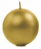 Woondecoratie gouden bolkaars 8 cm
