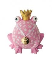 Xl spaarpot kikker roze 24 cm