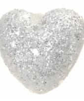 Zakje witte decoratie hartjes 2 5 cm