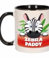 Zebra ontbijtbeker zwart wit voor kinderen 300 ml