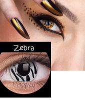 Zebra print kleurlenzen