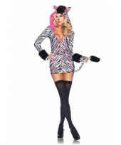 Zebra verkleedkleding voor dames