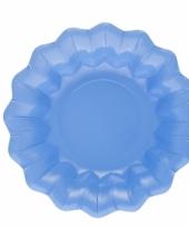 Zee blauwe chips schaaltjes 24 cm