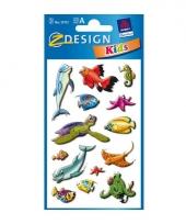 Zeedieren stickers 2 vellen