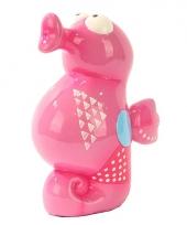 Zeepaard spaarpot roze
