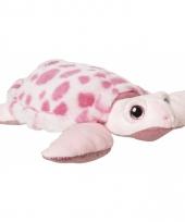Zeeschildpad knuffeltje roze 23 cm
