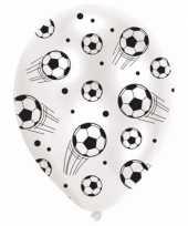 Zes voetbal thema ballonnen