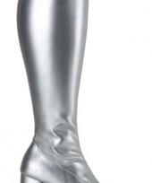 Zilver glimmende feest laarzen