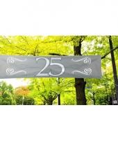 Zilveren banner 25