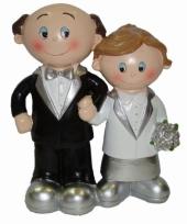 Zilveren bruidspaar poppetjes